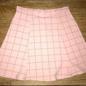 american apparel gridded a line skirt